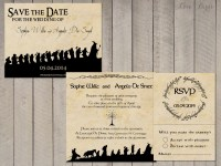 Wedding invitation Set Lord of the Rings Save the Date