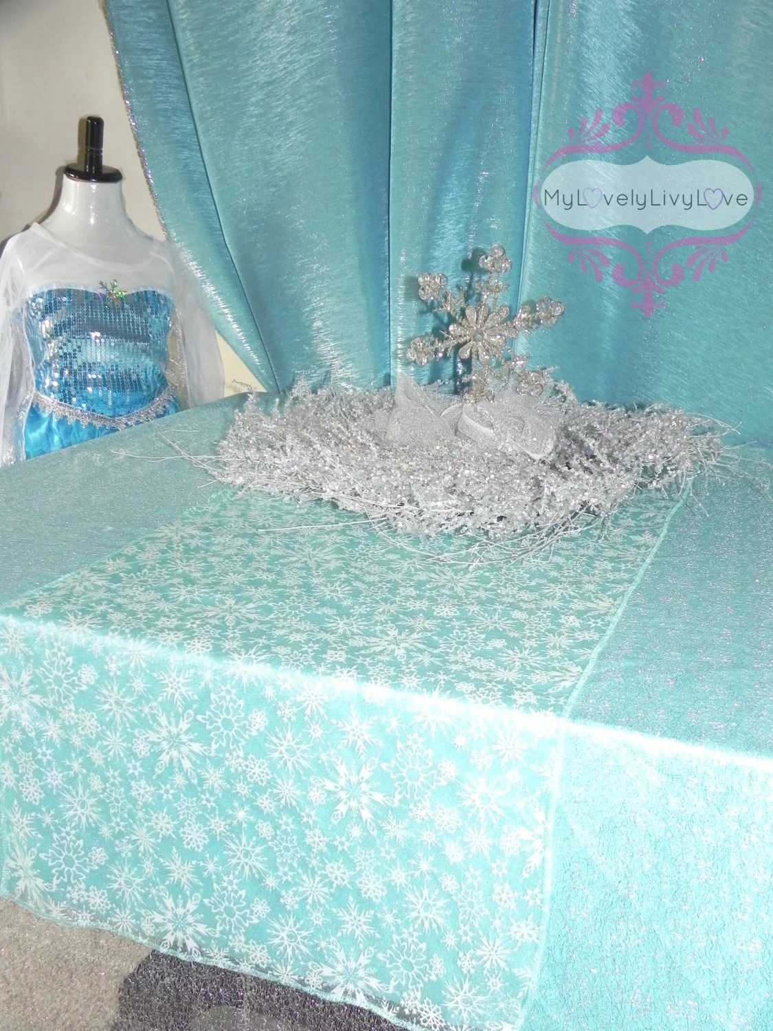 Table Overlay Runner Snowflake Tablecloth Elsa By
