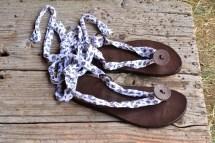 Leather Sandals Women Gladiator Barefoot