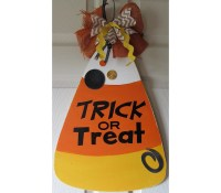 Candy corn door decoration TRICK OR TREAT by DoorDoodlesDecor