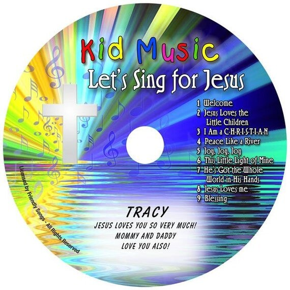 Kids Personalized Music Cd Let's Sing For Jesus