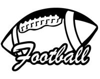 Football Outline Die-Cut Decal Car Window by ...