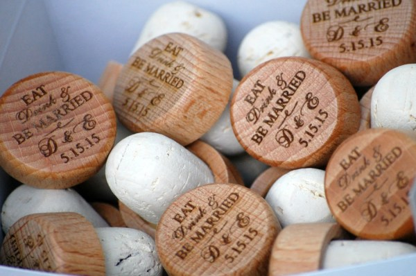 Personalized Wine Stopper Wedding Favor or by UrbanLoftTampa