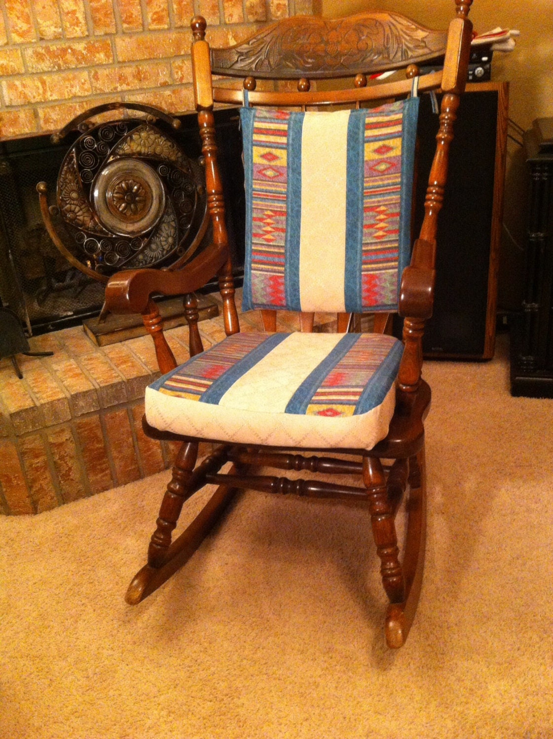 glider rocking chair cushion pattern living room slipcovers cushions handmade in quilted your