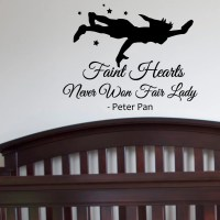 Peter Pan Shadow Wall Decal Quotes Faint Hearts by ...