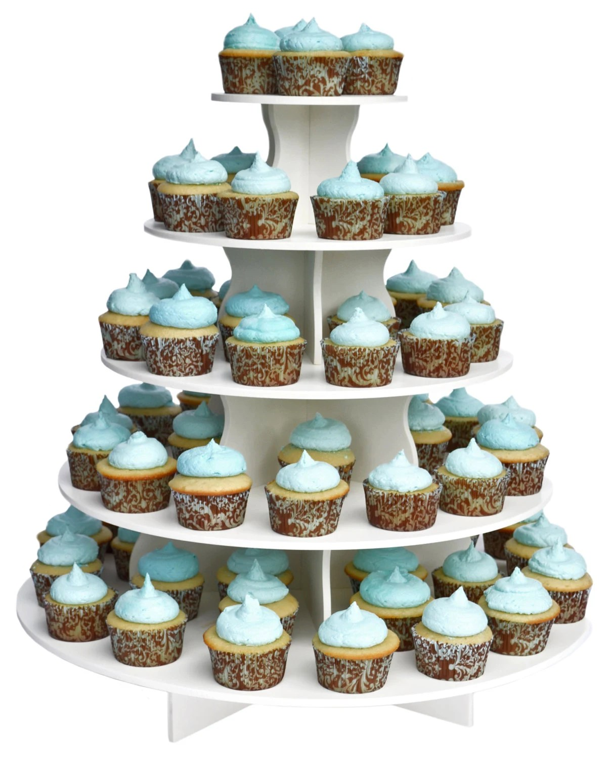 5 Tier Round Cupcake Tower StandReusable and Adjustable