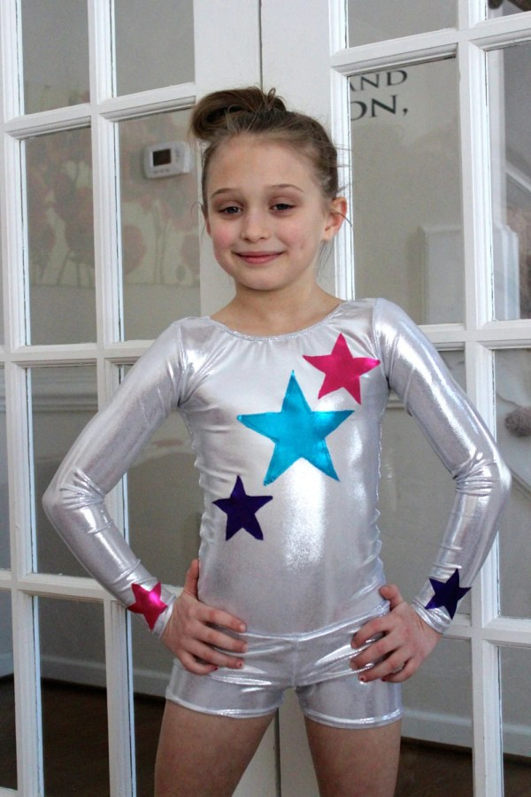 Long Sleeve Leotard Dance Gymnastics With Stars 2t 3t