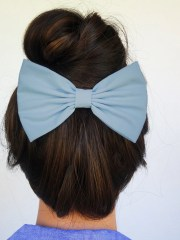 blue hair bow girls hairbows