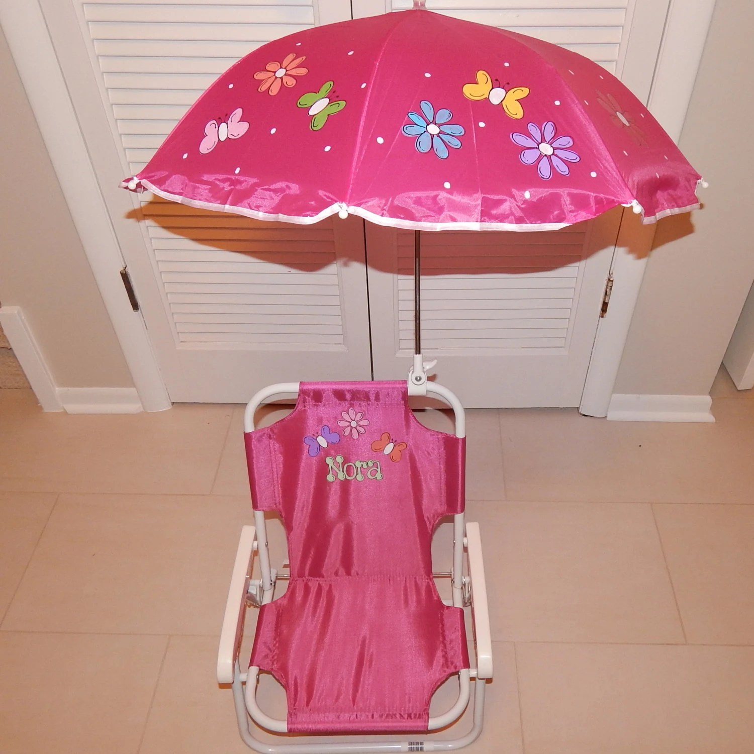 children s beach chair with umbrella wheelchair stairs personalized folding for kids