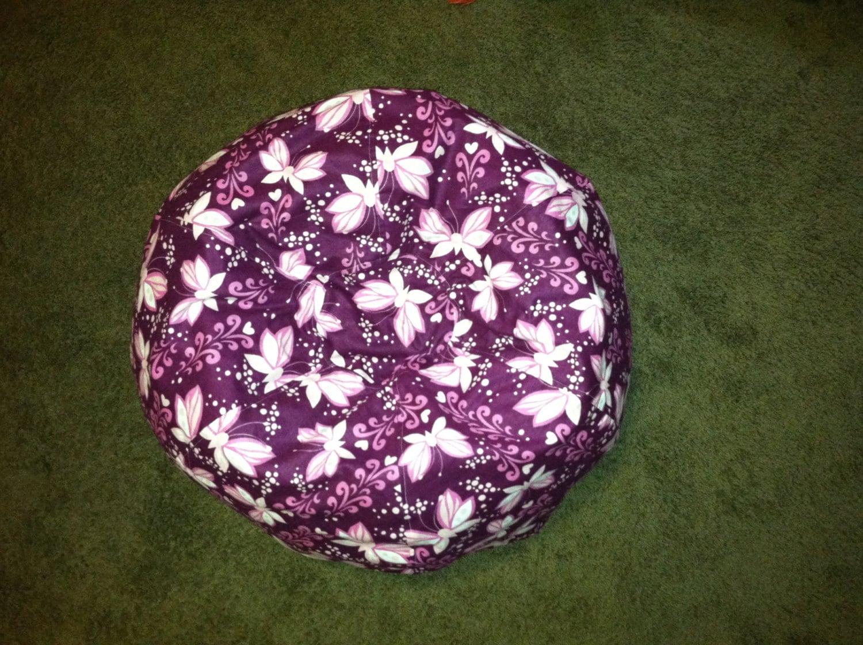 purple bean bag chair aeron by herman miller manual butterfly kids