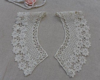 Bridal Lace Fabric French Chantilly Lace Applique by
