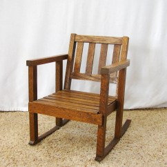 Rocking Chair Antique Styles Ergonomic Reviews Reddit Vintage Child 39s Mission Style