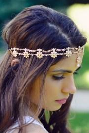 celine gold flower pearl rhinestone