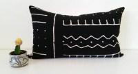 Mudcloth Lumbar Pillow Cover Malian Bogolanfini by ...