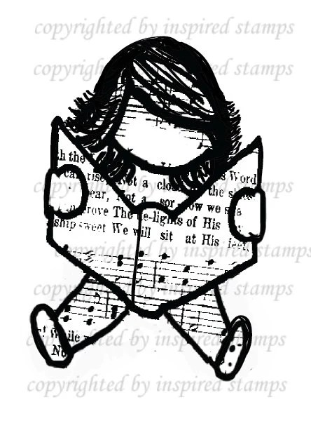 Inspired Stamps HYMN GIRLS: Sit and Read Girl... brand new
