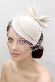 birdcage veil cocktail hat felt