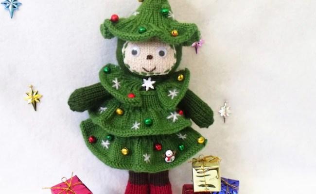 Christmas Tree Doll Toy Knitting Pattern Christmas