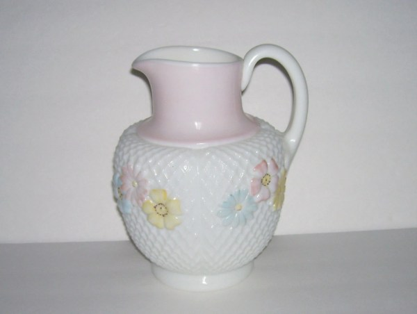 Antique Consolidated Glass Cosmos Milk Pitcher