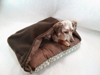Items similar to Cozy Cave Flannel Canvas Pet Bed with ...