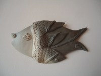 fish decor for walls - 28 images - vintage ceramic blue ...