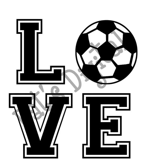Download Items similar to Soccer Love Cutting or Printing Digital ...