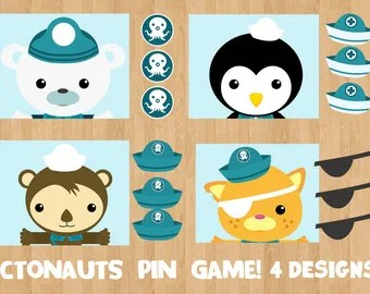OCTONAUTS Birthday Party PIN Game Printable 4 Designs Pin