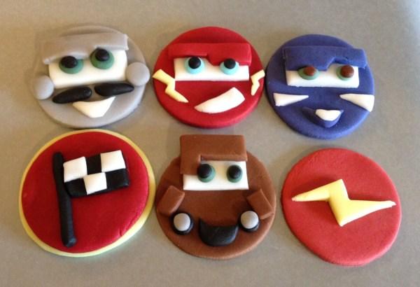 12 X Edible Icing Disney Cars Themed Cupcake Acupfulofcake