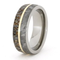 Custom Made Titanium Ring Dinosaur Bone and by jewelrybyjohan