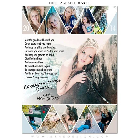 Senior Yearbook Ads Photoshop Templates PENNANT High