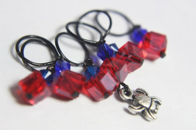 Spider-Man Stitch Markers...