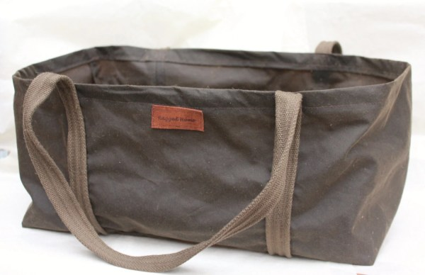 Waxed Canvas Firewood Log Carrier