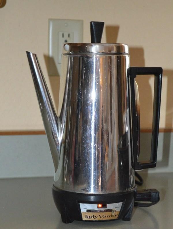 Vintage Lady Vanity Percolator 12 Cup Coffee Pot
