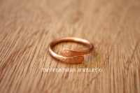 Copper Byass Ring Hammered Ring Solid Copper Thumb Ring