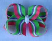 basic hair bows watermelon