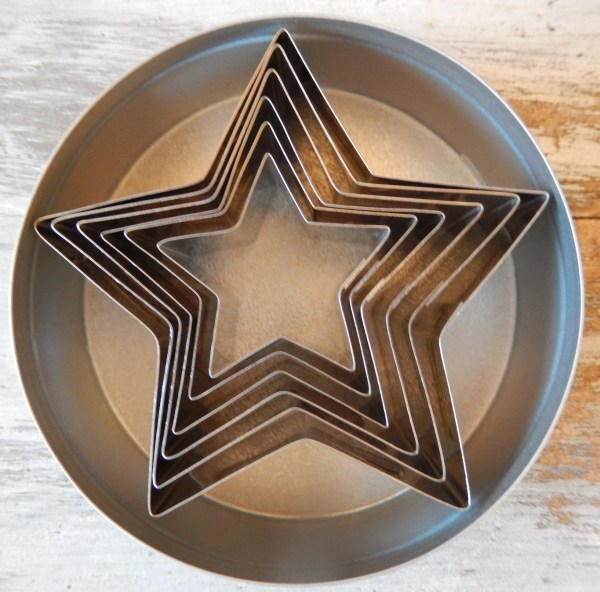 Ateco Stars Metal Cookie Cutter Set Of 6 Assorted Sizes