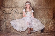 Rustic Country Lace Flower Girl Dresses
