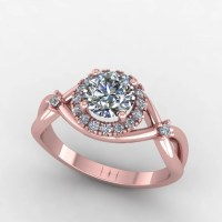 rose gold engagement ring diamond halo by fabiandiamonds ...