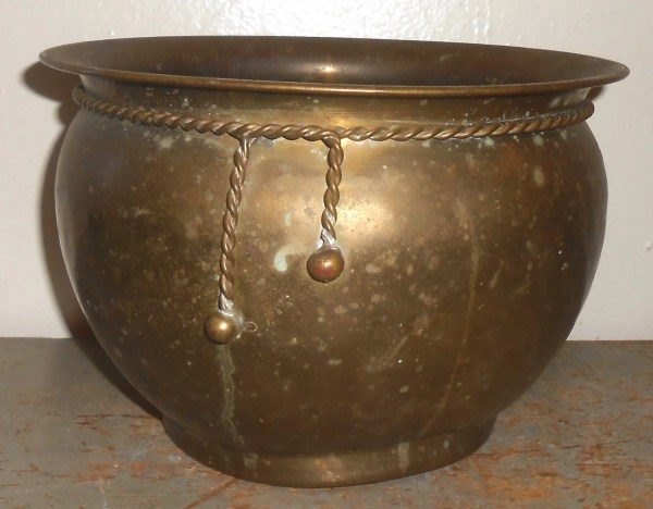 Vintage Planter Brass Pot Flower Decor