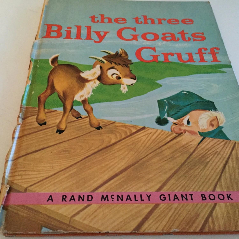 Vintage Book The Three Billy Goats Gruff Rand Mcnally