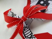 red and black volleyball hair ribbons