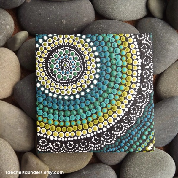 Aboriginal Art Dot Painting Small Original Acrylic