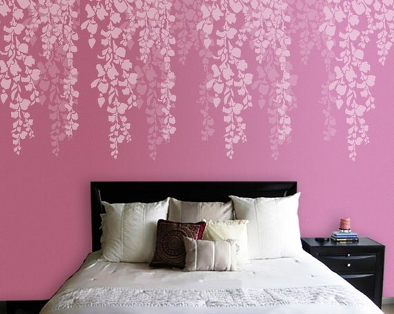 Albero Stencil Stencil muro camera da letto Cherry Blossom