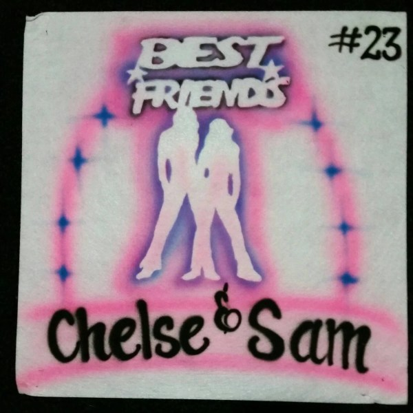 Airbrushed Friends With Names T-shirt Design