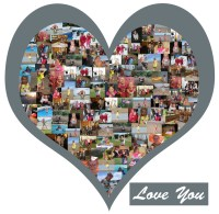 Heart Shape Photo Collage Vinyl Wall Art