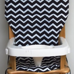 Eddie Bauer High Chairs Queen Ann Chair Wooden Pad Replacement Cover Zigzag
