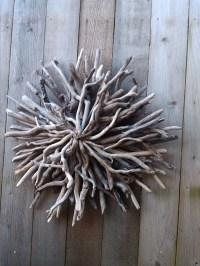 Driftwood Sunburst Outdoor Beach Garden Driftwood Art Wall