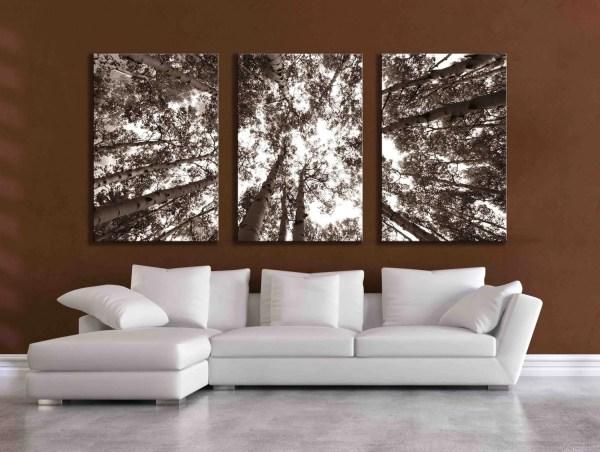 Three Large Multi Panel Wall Art Aspen 20x24 24x36