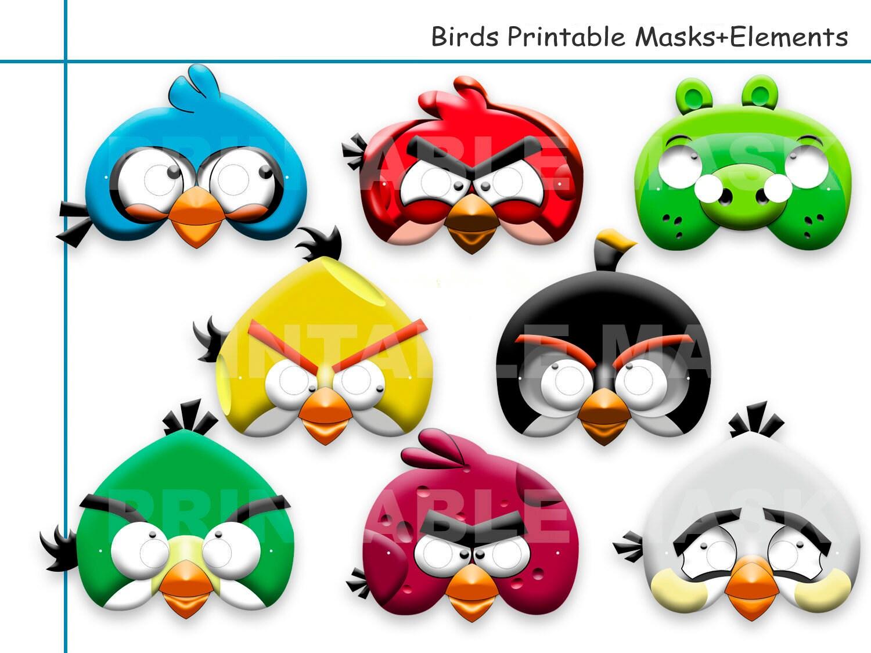 Unique Birds Printable Masks Party Mask Birthday Photo