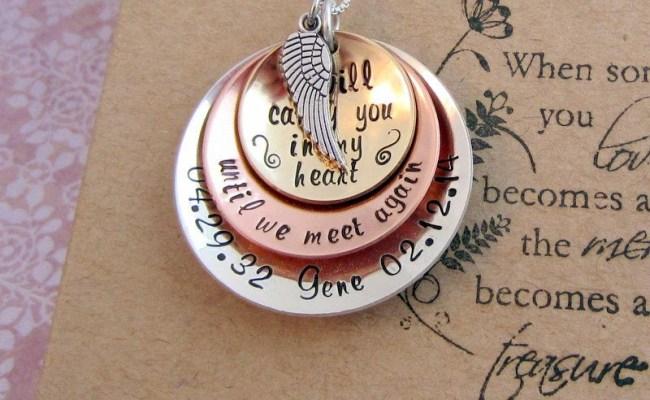Memorial Necklace Sympathy Gift Furneral Gift Sterling