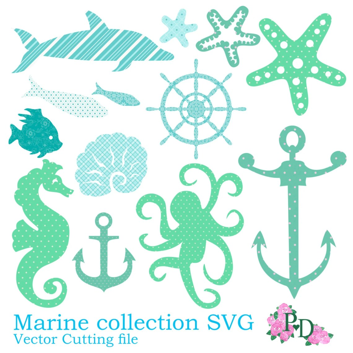 Download SVG cutting files Sea beach Marine Swimming picnic vacation